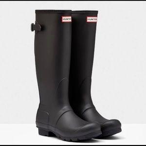 Hunter Original Tall Rain Snow Black Matte Boots